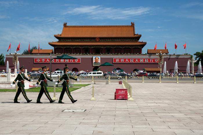 Plac Tiananmen w Pekinie