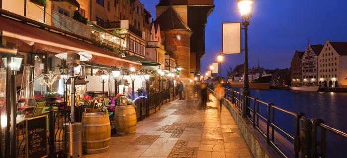 Sporo restauracji w Gdańsku znajduje się w okolicach Żurawia