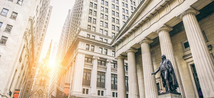 Federal Hall Museum przy Wall Street w Nowym Jorku
