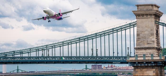 Samolot Wizz Air podczas Air Show w Budapeszcie
