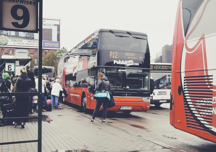 Przystanek Polskiego Busa w Gdańsku