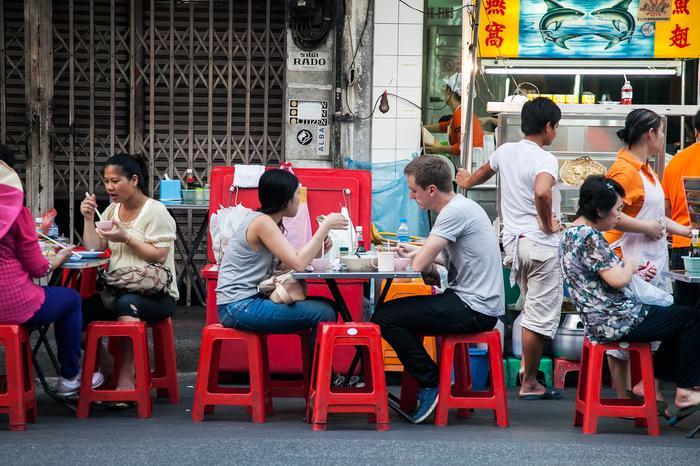 Street food wpisał się w krajobraz stolicy Tajlandii