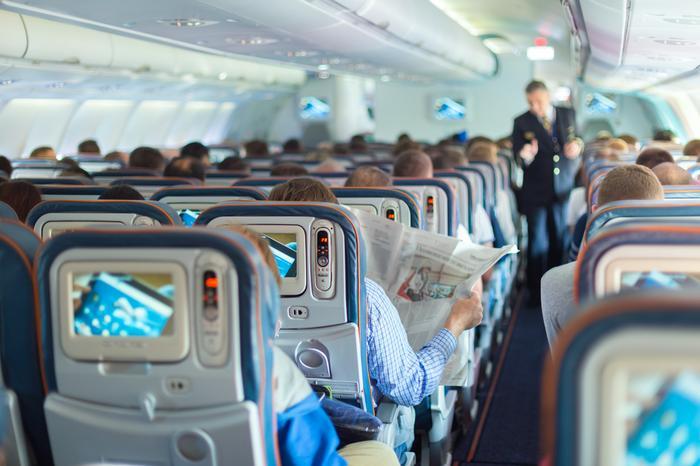 W samolocie, zdjecie ilustracyjne