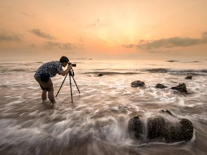 Fotograf nad morzem