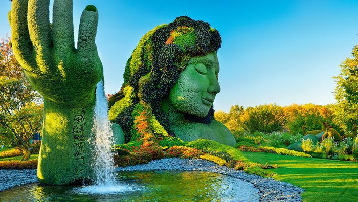 W ogrodzie botanicznym 200 artystów stworzyło 40 roślinnych rzeźb