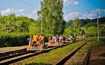 Drezyny rowerowe w Uhercach Mineralnych w Bieszczadach