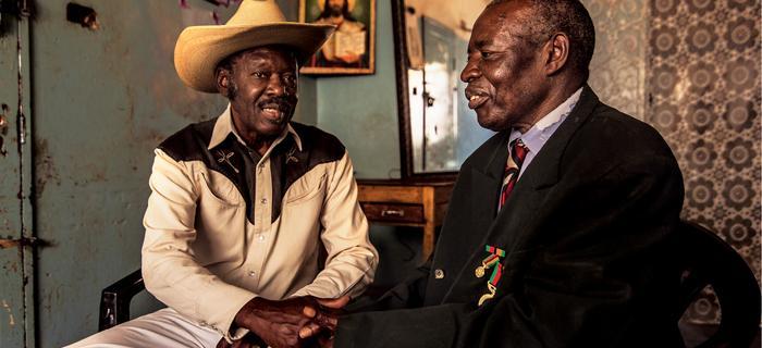 Cuthbert Kolala i Mukuka Nkoloso – syn założyciela Zambijskiej Akademii Kosmicznej