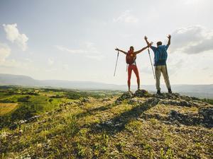 Podróżnicy w górach