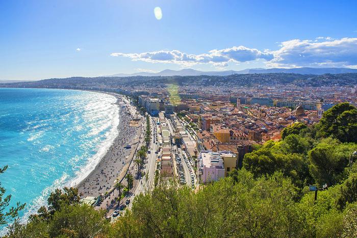 Widok ze Wzgórza Zamkowego w Nicei