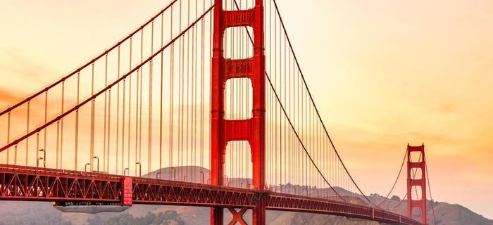 Golden Gate Bridge w San Francisco