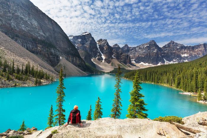 Jezioro Moraine w Parku Narodowym Banff