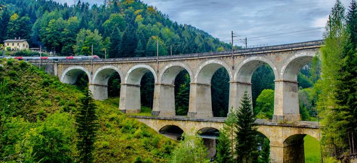 Trasa kolejowa Semmering w Austrii