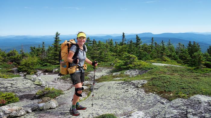 Agnieszka Dziadek na górze Baldpate. Appalachian Trail kończy się 423 km stąd