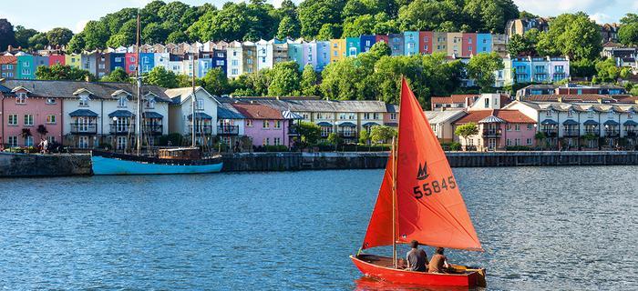 Dzielnica Hotwells w Bristolu