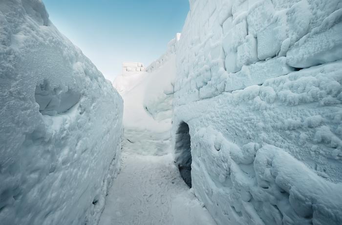 Śnieżny labirynt