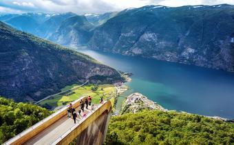 Sognefjord z punktu widowkowego Stegastein