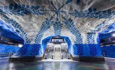 Metro w Sztokholmie jest nazywane najdłuższą galerią sztuki na świecie