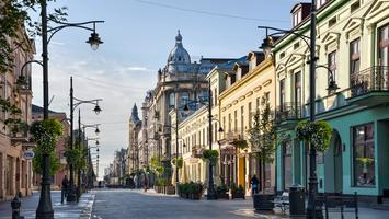 Łódź: ulica Piotrkowska i nocne atrakcje Łodzi