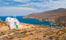 Kapliczka Agia Irini nad zatoką Livoskopos