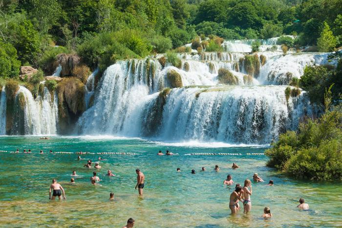 Skradinski Buk, największy wodospad w parku rzeki Krka