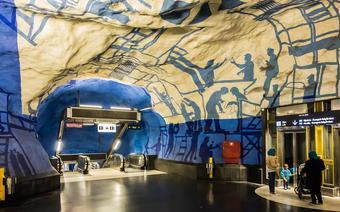 Stacja metra T-Centralen w Sztokholmie
