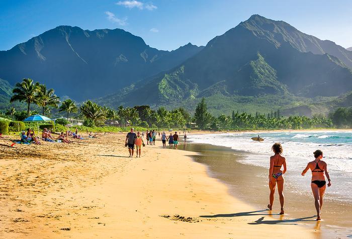 Na wyspie Kauai jest niemal 80 km piaszczystych plaż