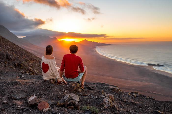Wyspy Kanaryjskie: Fuerteventura o zachodzie słońca