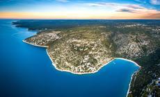 Wschodnia Istria z lotu ptaka, okolice Rasy