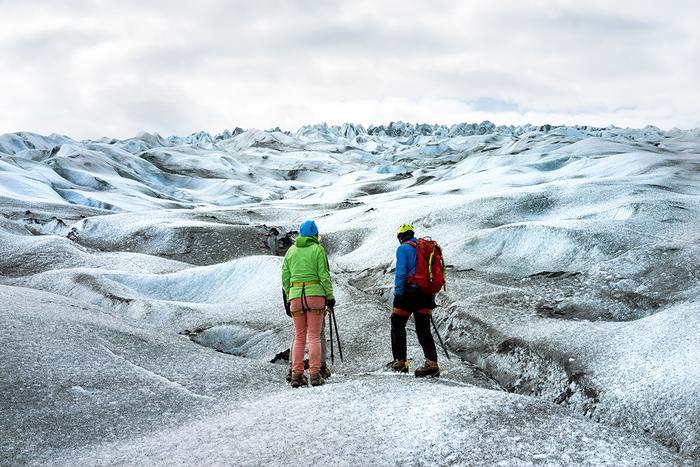 Trekking na lodowcu