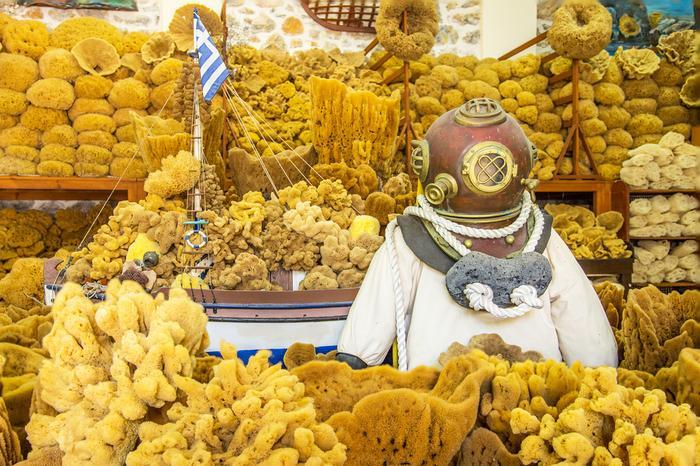 Sklep z gąbkami morskimi, Kalimnos