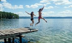 Kąpiel w jeziorze