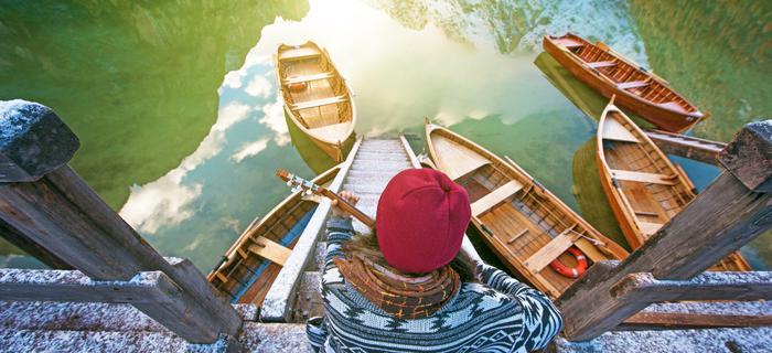 Jezioro Braies w Dolomitach