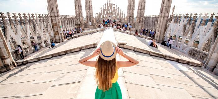 Na szczycie Katedry w Mediolanie