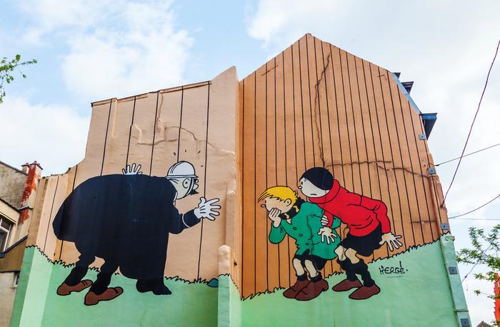 Komiksy w formie murali, Bruksela