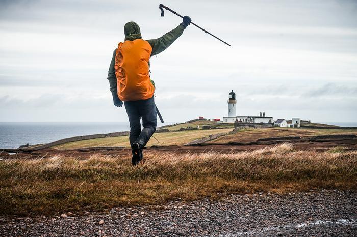 Krzysztof Story na mecie Cape Wrath Trail