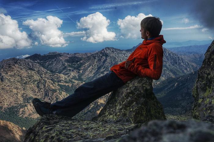 Krzysztof Story na szczycie Monte Cinto