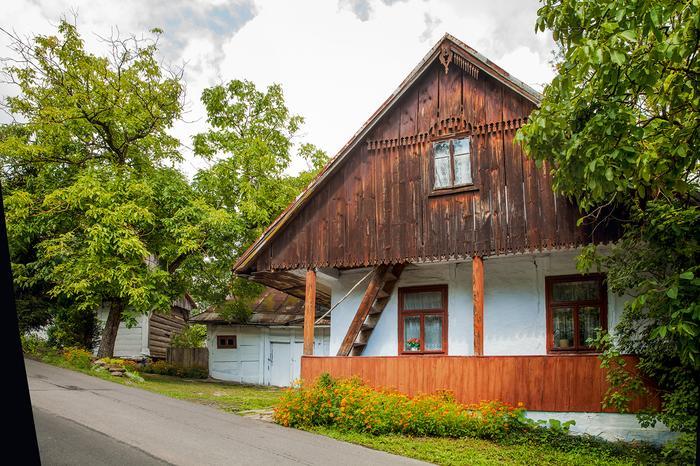 Typowy dom w Kalwarii Pacławskiej