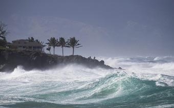 Sztorm i śnieżyca na Hawajach