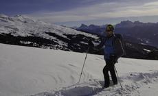 Południowy Tyrol: Florian Obrist rusza w góry na rakietach śnieżnych
