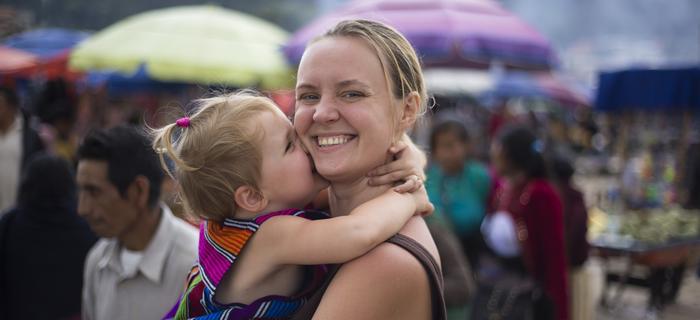 Karolina Ponzo z córką Milą