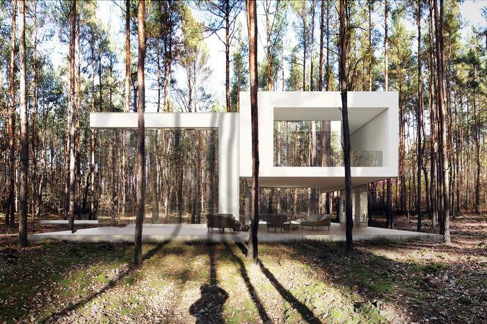 """""""Niewidzialny"""" dom pod Warszawą FOT. wiz. REFORM Architekt Marcin Tomaszewski"""