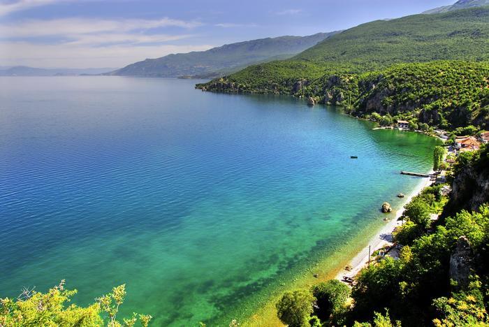 Jezioro Ochrydzkie w Macedonii