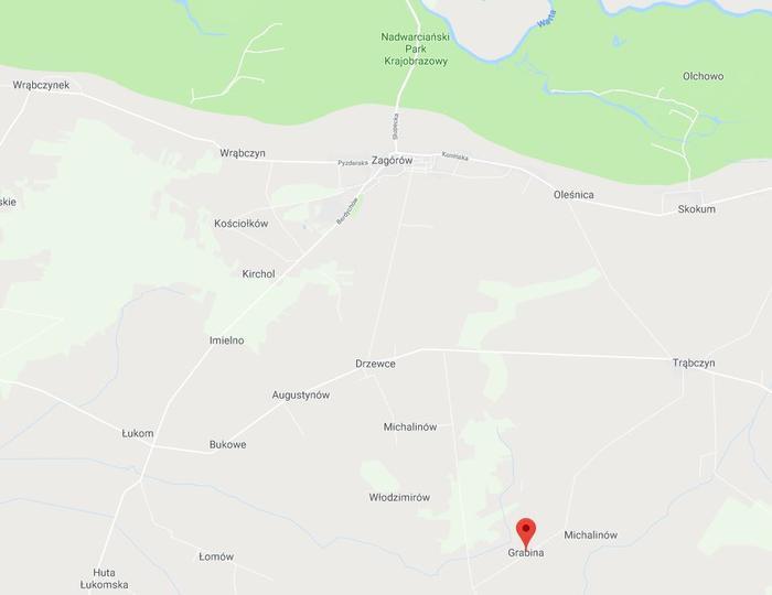 Grabina - mapa