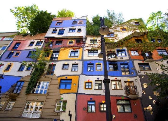 Dom w stylu Hunderwasser, Wiedeń