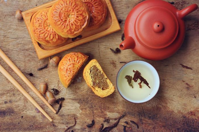 Chińskie księżycowe ciasteczka.
