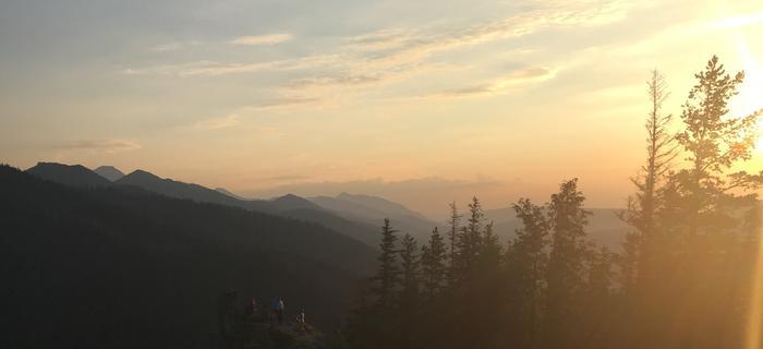 Nosal - zachód Słońca.