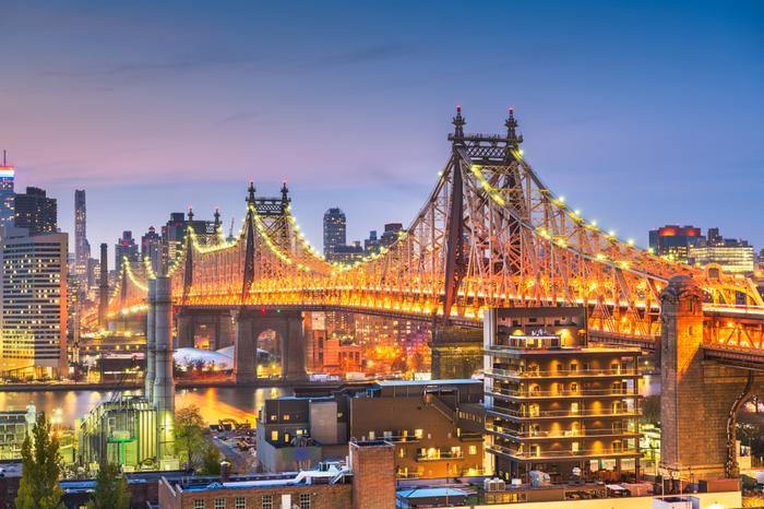 Nowy Jork, widok na most Queensboro