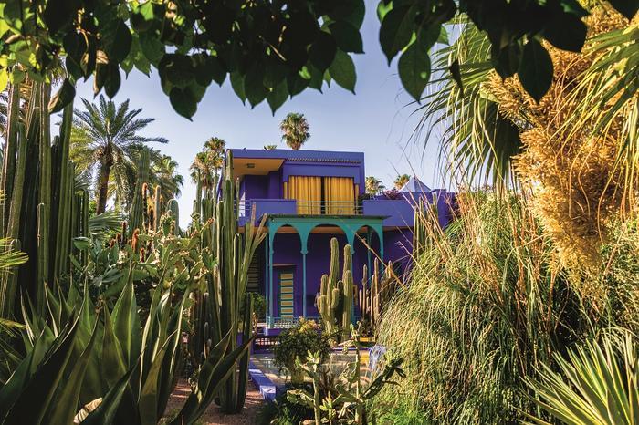 Marrakesz. Dom Jacques'a Majorelle'a z 1931 r. Saint Laumianował na willę Oasisrent prze