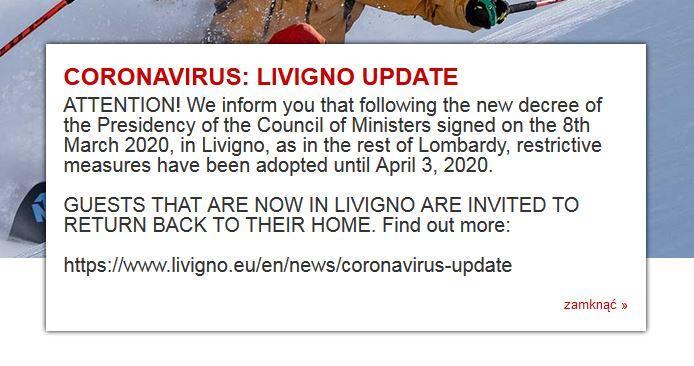 Koronawirus w Livigno