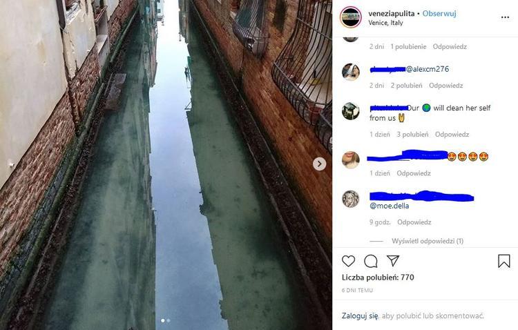 Czysta woda w Wenecji